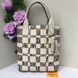 Michael Kors VIVIAN Snake Leather Tote Bag Purse